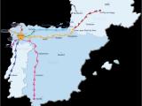 Map Of Spain Santiago De Compostela Camino De Santiago Routes Follow the Camino