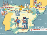 Map Of Spain Santiago De Compostela Spain S Camino De Santiago How Long the Trip Takes
