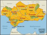 Map Of Spain Showing andalucia Map Of Spain