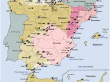 Map Of Spain Showing Salamanca Spanish Coup Of July 1936 Wikipedia