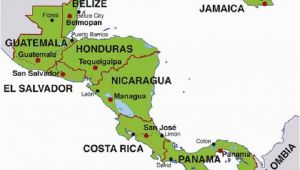 Map Of Spain with Capitals Map Of Central America Countries and Capitals Homeschool
