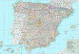 Map Of Spain with Cities and towns Large Detailed Map Of Spain with Cities and towns