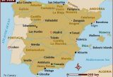 Map Of Spain with Cities and towns Map Of Spain