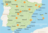 Map Of Spain with Cities and towns Map Of Spain Spain Regions Rough Guides