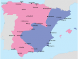 Map Of Spain with Major Cities Spanish Civil War Wikipedia