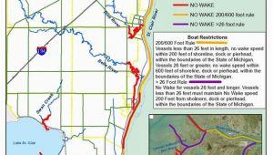 Map Of St Clair Michigan No Wake Zones