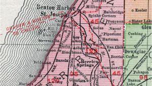 Map Of St Joseph Michigan Berrien County Michigan 1911 Map Rand Mcnally St Joseph