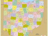 Map Of Tennessee with Counties Ohio Zip Code Map with Counties 48 W X 48 H Worldmapstore