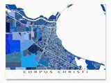 Map Of Texas Corpus Christi Amazon Com Corpus Christi Map Print Texas Usa City Street Art