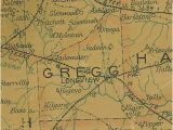 Map Of Texas Ghost towns Gregg County Texas History town List Vintage Maps More