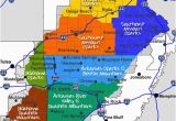 Map Of Texas Mountains Maps Maps and More Maps Of the Ozarks Ouachita Mountains