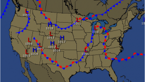 Map Of Texas Weather Current Frontal Map for the United States Weather Resources