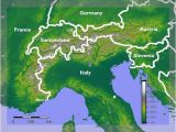 Map Of the Alps In Italy Alps Facts for Kids