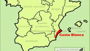 Map Of the Costa Blanca Spain Costa Blanca Maps Spain Maps Of Costa Blanca
