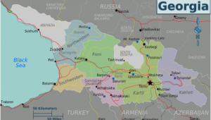 Map Of the Country Of Georgia Georgia Country Travel Guide at Wikivoyage