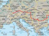 Map Of the Danube River In Europe Danube Wikipedia