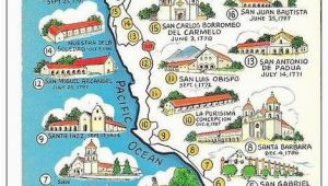 Map Of the Missions In California Map Of California Missions Built Between 1769 and 1823 Spanish