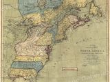 Map Of the New England Colonies Map Of north America 1771 Early American Colonies 16×20