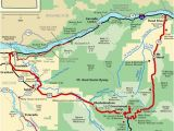 Map Of the oregon Territory Mt Hood Scenic byway Map America S byways Camping Rving
