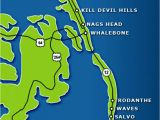 Map Of the Outer Banks north Carolina Fishing the Outer Banks