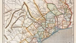 Map Of the Republic Of Texas Republic Of Texas by Sidney E Morse 1844 This is A Cerographic