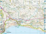 Map Of the south West Coast Of England south West Coast Path Dorset A Z Adventure atlas ordnance Survey Shop