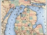 Map Of the Up Michigan Michigan Railroad Map Art Print America S High Five Michigan