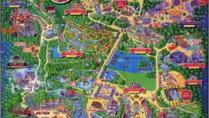 Map Of theme Parks In England Alton towers Map Staffordshire England for 1994 theme Alton