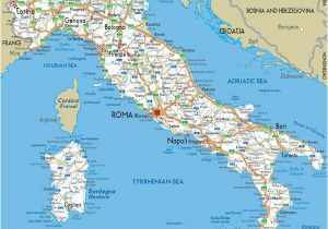 Map Of towns In Italy Large Detailed Road Map Of Italy with All Cities and Airports