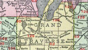Map Of Traverse City Michigan area Grand Traverse County Michigan 1911 Map Rand Mcnally Traverse