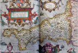 Map Of Tudor England Tudor Map Of Cornwall 1579 Christopher Saxton the