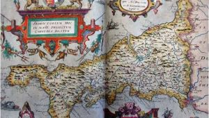 Map Of Tudor England Tudor Map Of Cornwall 1579 Christopher Saxton the