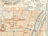 Map Of Turin Italy Turin torino Italy City Map 19th Century Map Antique 1890s