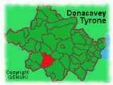 Map Of Tyrone Ireland Map Map Showing the Location Of Donacavey In County Tyrone