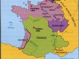 Map Of United Kingdom and France 100 Years War Map History Britain Plantagenet 1154
