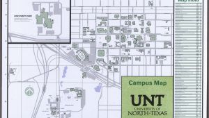 Map Of University Of north Texas University Of north Texas Campus Map 2014 15 Side 1 Of 2