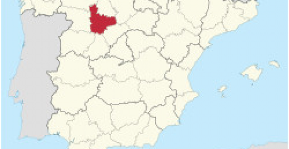 Map Of Valladolid Spain Province Of Valladolid Wikipedia