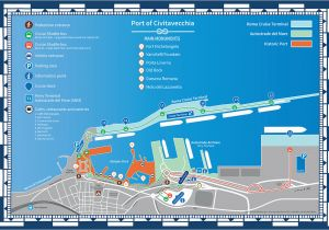 Map Of Venice Italy Cruise Port Port Of Civitavecchia Guide for Cruise Passengers Port Mobility