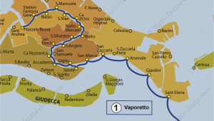 Map Of Venice Italy Cruise Port Transport Vaporetto Waterbus Bus Lines Maps Venice Italy