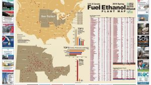 Map Of Vernon Texas Spring 2018 U S and Canada Fuel Ethanol Plant Map by Bbi