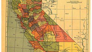 Map Of Visalia California California Map 1900 Maps Pinterest California History