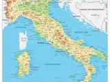 Map Of Volcanoes In Italy Simple Italy Physical Map Mountains Volcanoes Rivers islands
