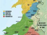 Map Of Wales and Ireland Map Of Welsh Dialects Made by Me Based Off A Collection Of Others