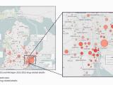 Map Of Warren Michigan Report Details Hardest Hit Michigan areas for Opioid Use Drug