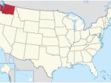 Map Of Washington State and oregon Washington State Wikipedia