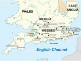 Map Of Wessex England A thelwulf King Of Wessex Revolvy