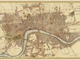 Map Of Westminster California London Map Old Map Of London Reproduction City Of London Map