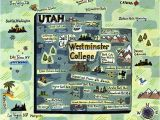Map Of Westminster California Westminster College Map Utah Gina Triplett Illustrated Maps