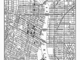 Map Of White City oregon Portland Street Map Vintage Print Poster Black and White Products