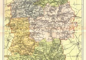 Map Of Wiltshire County England Maps